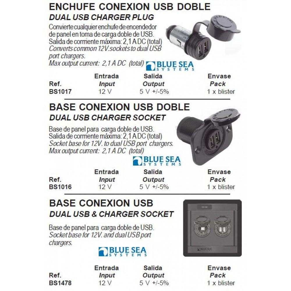 Dubbel USB lader socket